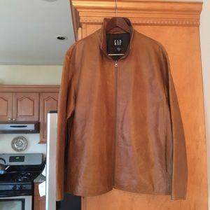 Gap Men's Leather Brown Jacket